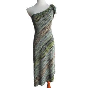 BCBG MAX AZRIA One Shoulder Striped Dress